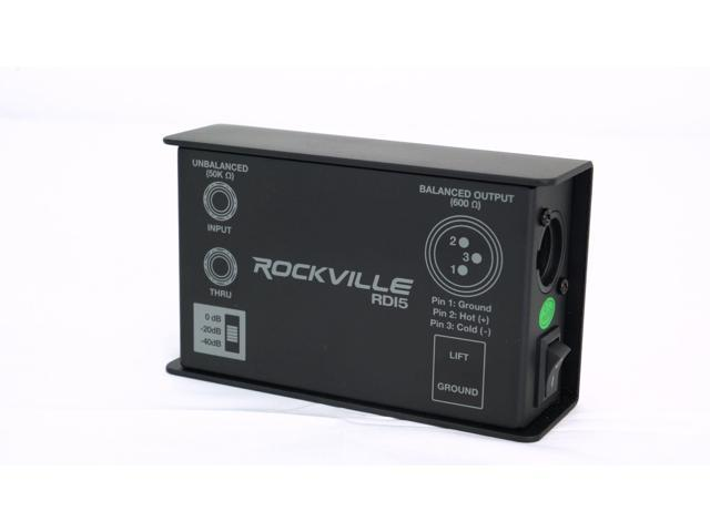 Rockville RDI5 DI Box Converts Guitar//Instrument Signal to Balanced Line Level