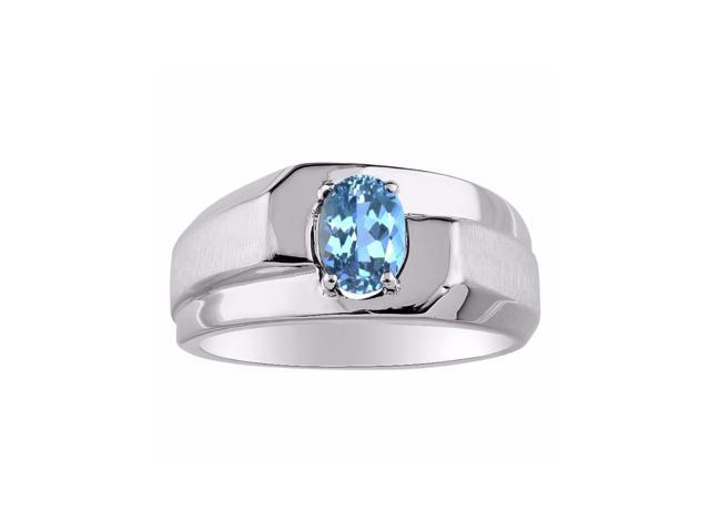 Birthstone Ring Sterling Silver or Yellow Gold Plated Silver Blue Topaz Ring