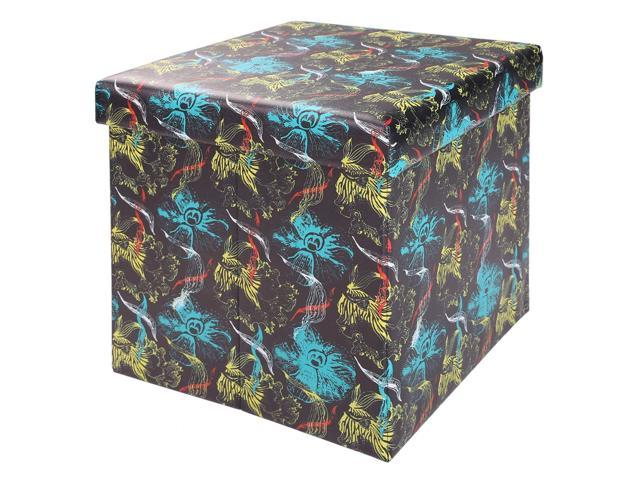Marvelous New Pvc Leather Suede Cube Ottoman Multifunctional Folding Storage Stool Seat Newegg Com Pabps2019 Chair Design Images Pabps2019Com