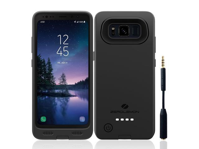 online retailer 2e555 2f147 Samsung Galaxy S8 Active Battery Case, ZeroLemon Ultra Power Galaxy S8  Active 8000mAh Extended Battery with Soft TPU Full Edge Protection Case for  ...