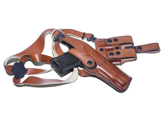 Masc Premium Leather Vertical Shoulder Holster System for Canik TP9 SF  Elite 4