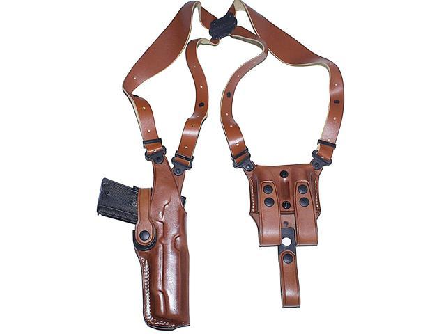 Masc Premium Leather Vertical Shoulder Holster System for Smith Wesson MP40  Pro Series 4 25'' Barrel, Right Hand Draw, Brown Color #1137# -
