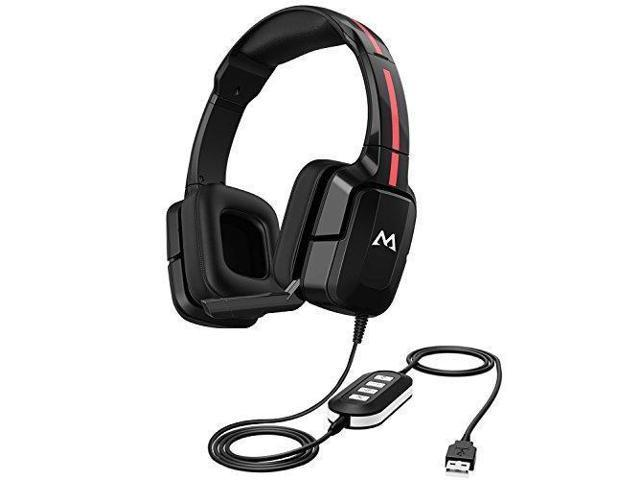 Mpow EG2 Gaming Headset, 40mm Driver Stereo Sound, Foldable Noise  Cancelling Mic, Soft Memory Earmuff, Rotating Ear Cups, On-Cable Control  Wired