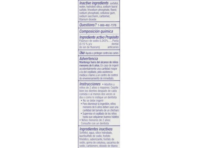 Crest Fresh White Peppermint Gleem Toothpaste, 4 8 Ounce - Newegg com