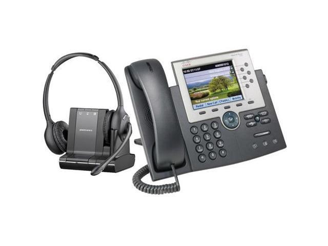 Plantronics Over The Head Monaural Wireless Headset System Cs510 Cisco Unified Ip Phone 7965g Combo Newegg Com
