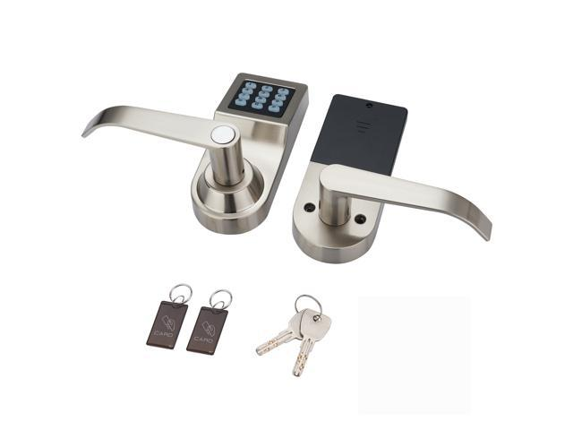 HAIFUAN Digital Door Lock,Unlock with M1 Card, Code and Key,Default for  Left Hand Orientation(Reversible)(Card+Code+Key) - Newegg com