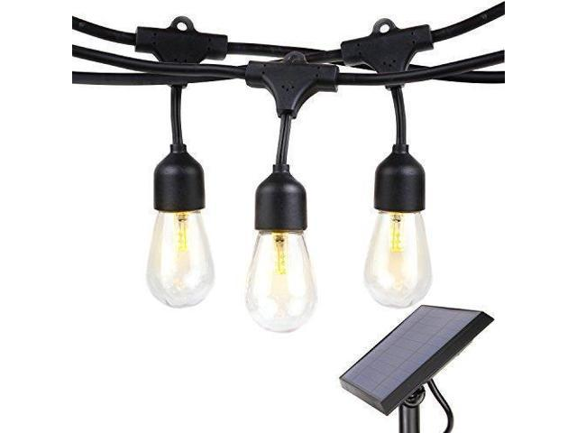 Brightech Ambience Pro Solar Ed Led Outdoor String Lights Heavy Duty Waterproof Hanging Edison Bulbs Commercial Grade Weatherproof Patio