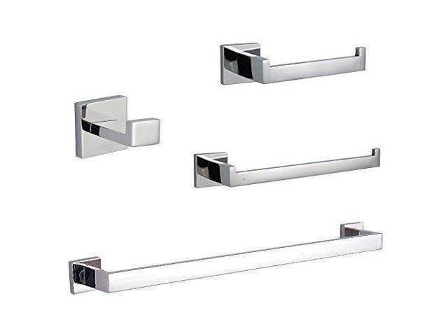 Kes Sus304 Stainless Steel Bathroom Accessories Set Single Towel Bar Robe Hook Toilet Paper Holder Ring Wall Mount Polished Finish La250 42