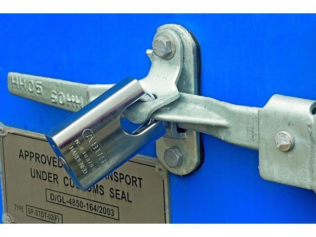 Abus 83CS//55-300 Zero-Bitted S2 Schlage 55Mm Rekeyable Padlock Solid Steel Chrome Plated Body 1.4375