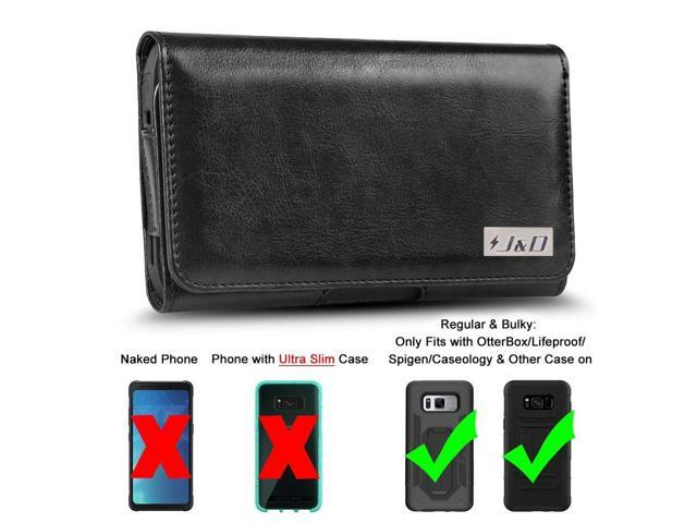 buy online d8a8a a8975 J&D Holster Compatible for Galaxy S7 Active/Galaxy S8 Active Holster with  Belt Clip, PU Leather Holster Pouch and ID Wallet Case for Samsung Galaxy  S8 ...