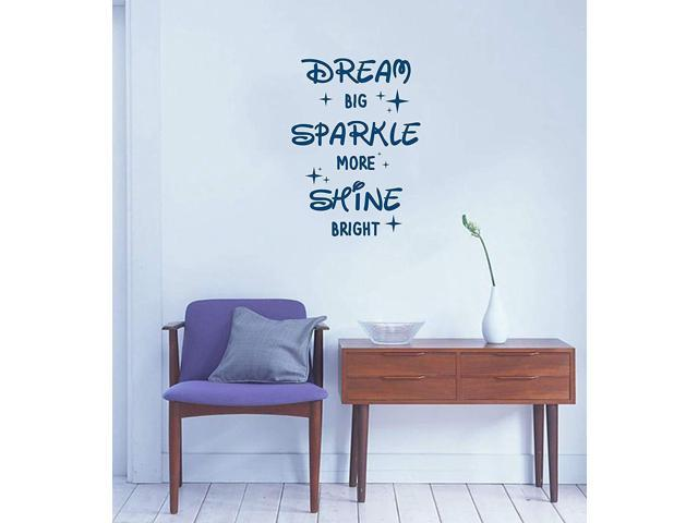 Motivational quote wall decal for nursery, bedroom, school, office, play  room, etc | Dream Big, Sparkle More, Shine Bright wall vinyl sticker art