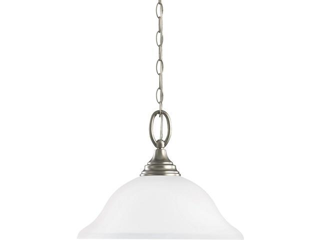 Sea Gull Lighting 44236 962 2 Light Brushed Nickel: Sea Gull Lighting 65625EN3-962 One Light Pendant Brushed