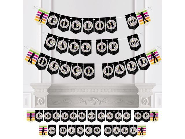 70's Disco - 1970s Party Bunting Banner - Disco Fever Party Decorations -  Follow The Call of The Disco Ball - Newegg com