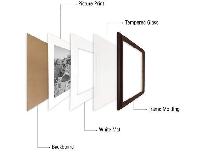 Color Brown Golden State Art 1.5-inch Width,16x20 Photo Frame with Ivory Picture Mat for 11x14 and Real Glass