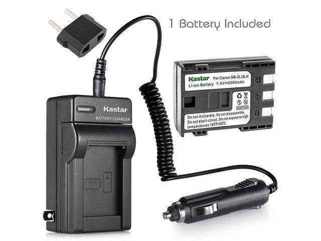 Kastar Charger + Battery for Canon ZR100 ZR200 ZR300 Digital REBEL XT XTi  EOS 350D 400D Camera + Car Adapter - Newegg com