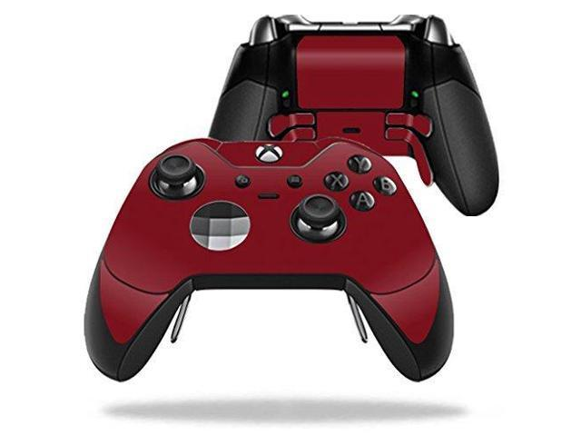 MightySkins Skin Compatible with Microsoft Xbox One Elite Controller -  Solid Burgundy | Protective, Durable, and Unique Vinyl wrap Cover | Easy to