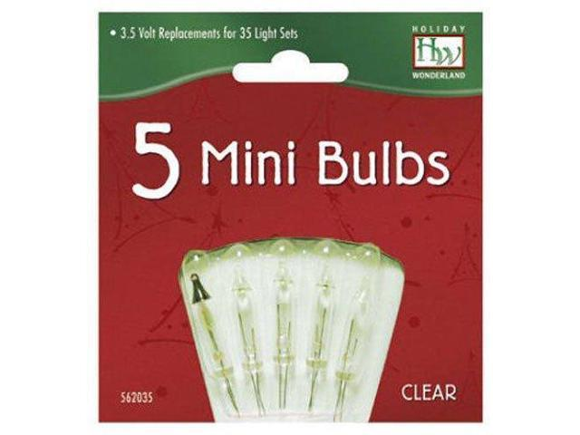 Noma Inliten 5 Clear Mini Christmas Light Replacement Bulbs