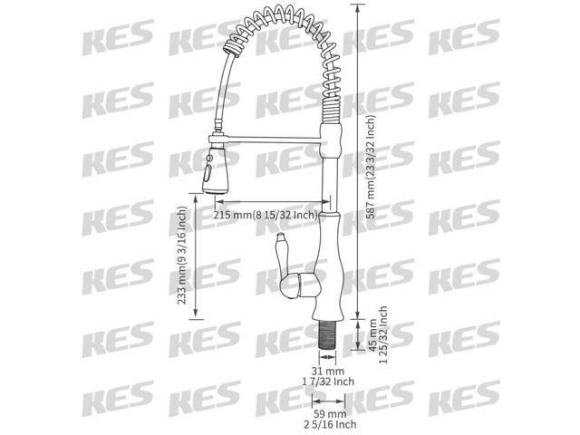 KES cUPC NSF Certified BR Singel Lever High Arc Pull Down Kitchen Faucet Abs Kes Wiring Diagram on