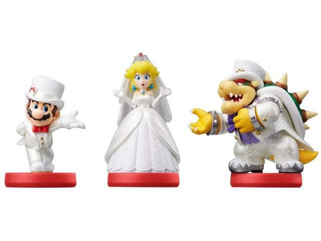Amiibo Mario Peach Bowser Wedding 3 Pack Super Mario Odyssey