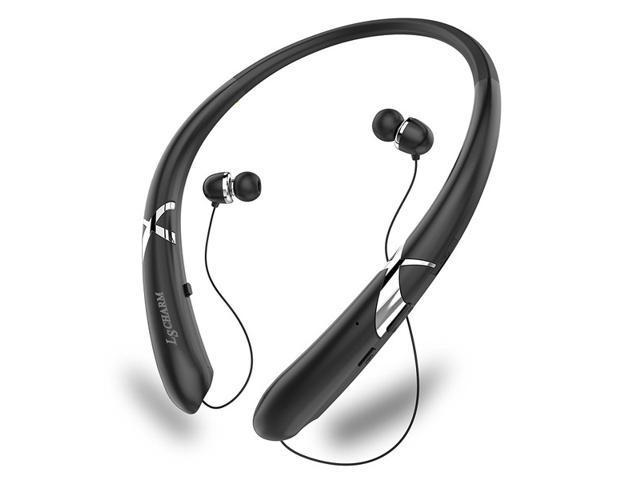 Crazybeat Bluetooth Headsets Retractable Earbuds Neckband Wireless Headphones Sport Earphones Headset Phones Tablets Pc Black Newegg Com