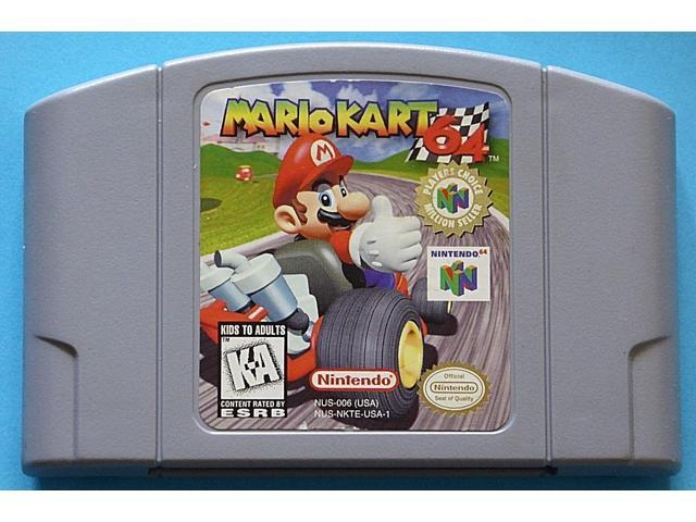 Mario Kart 64 Video Game Cart Cartridge For N64 Console Newegg Com