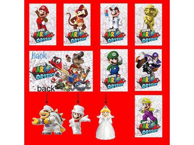 New 10pcs Super Mario Odyssey Amiibo Nfc Tag 7 Cards 3 Tag