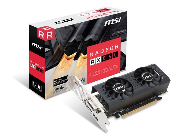 MSI Radeon RX 560 4GT LP OC Graphics Card, PCI-E x16 (uses x8), Low Profile  - Newegg com