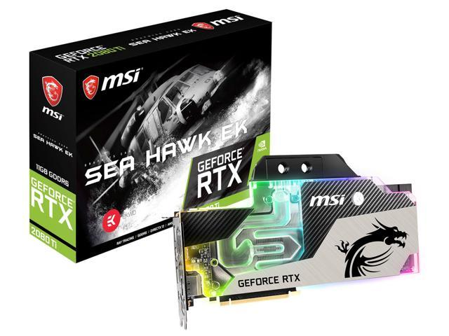 MSI GeForce RTX 2080 Ti SEA HAWK EK X Graphics Card, EKWB Liquid Cooling  Ready - Newegg com