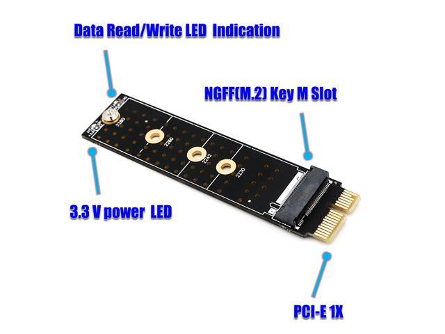 Sintech SATA SSD//HDD to M.2 NGFF B+M KEY SATA Socket adapter converter card