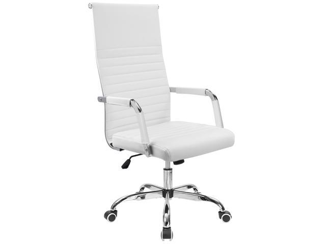 Furmax Ribbed Office Chair High Back Pu