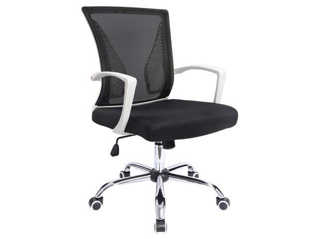Furmax Office Chair Mid Back Swivel Lumbar Support Desk Chair, Computer  Ergonomic Mesh Chair With Armrest (Black) - Newegg com