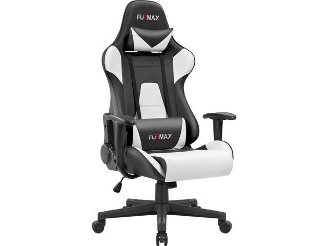 Sensational Furmax Gaming Office Chair Ergonomic High Back Racing Style Adjustable Height Executive Computer Chair Pu Leather Swivel Desk Chair Black White Ncnpc Chair Design For Home Ncnpcorg