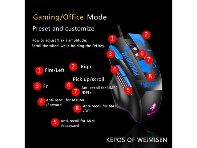 WEIMISEN High Performance Gaming Mice, Hardware Macros, 8 Customizable  Buttons and Onboard Memory, 100% No Risk Ban, Stability Perfect, More  Kill's,