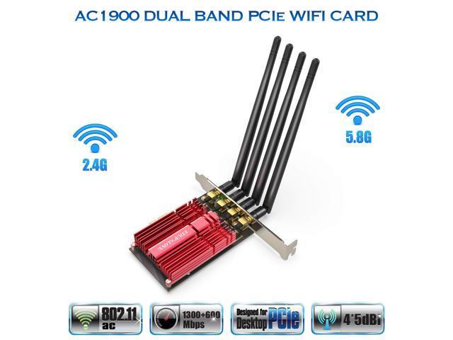 ghdonat.com EDUP AC1900 WiFi Card Wireless PCI Express Adapter ...