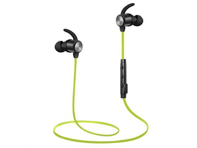 Bluetooth Headphones Atgoin Bluetooth 4 1 Magnetic Wireless Sports Earphones W Mic Hd Stereo Sweatproof In Ear Earbuds Gym Running Noise Cancelling Headsets Green Newegg Com