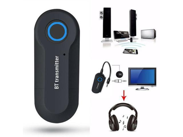 Wireless Portable Bluetooth 4.2 Transmitter Connected to 3.5mm Audio Device