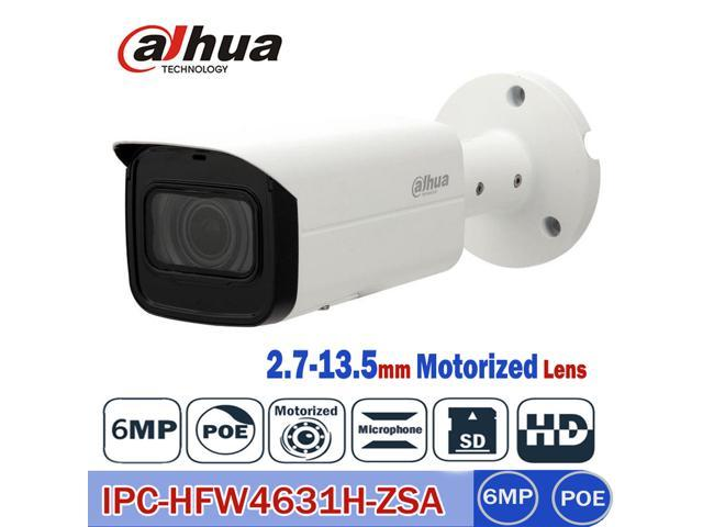 IPC-HFW4631H-ZSA Dahua 6MP IP Camera 2 7-13 5mm Motorized Varifocal Lens  Optical Zoom,Built-in Mic and SD Card Slot,IP67, IR 80m Day and Night,Smart