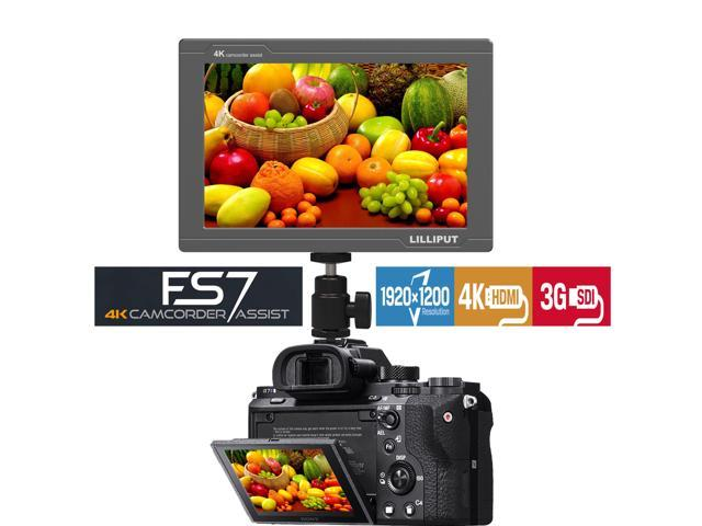 USA Official Seller VIVITEQ LILLIPUT FS7 7 inch Metal Full HD 1920x1200 4K HDMI 3G-SDI in Out On Camera Field Display Monitor
