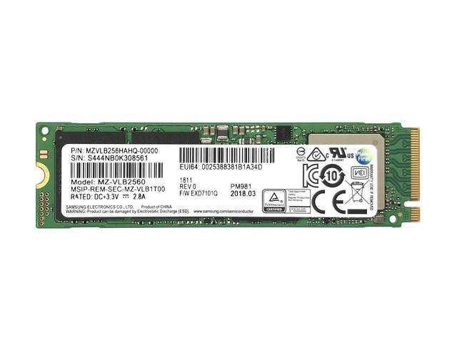 NEW Samsung PM981 MZ-VLB2560 256GB 3D TLC PCIe NVMe SSD,m2 970 EVO 250GB OEM