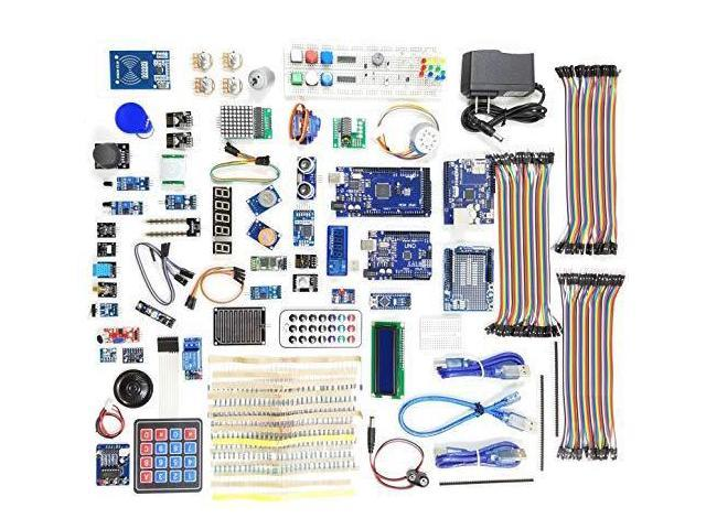 A&R Nano Uno Mega Monster Starter Kit for Arduino Beginner, All Main  Boards, 25 Sensor Modules with Bluetooth WiFi Ethernet for Learning STEM