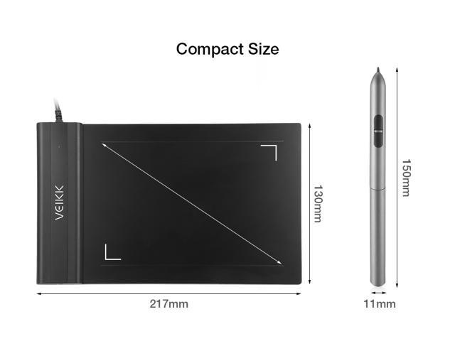 VEIKK S640 4x6 Inch Digital Graphic Drawing Tablet 5080LPI With Battery-Free Pen