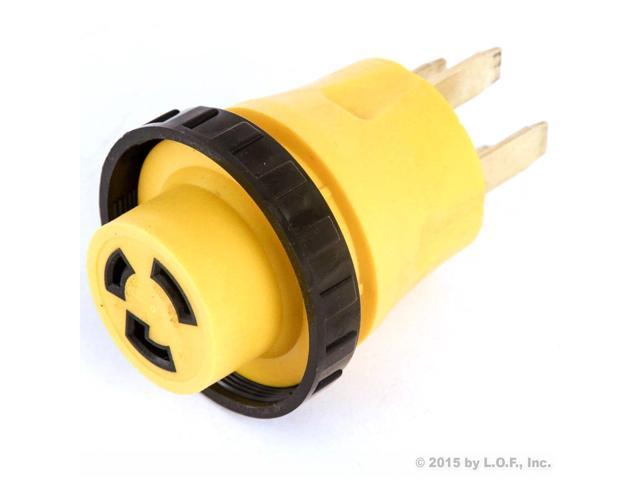 RV Electrical Locking Adapter 50A Male to 30A Female Locking Plug Connector