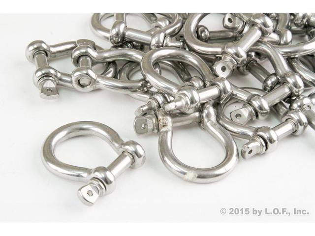 Red Hound Auto 10 Stainless Steel 5//16 Inch 7.9mm Anchor Shackle Bow Pin Chain Ring 1400 Pound