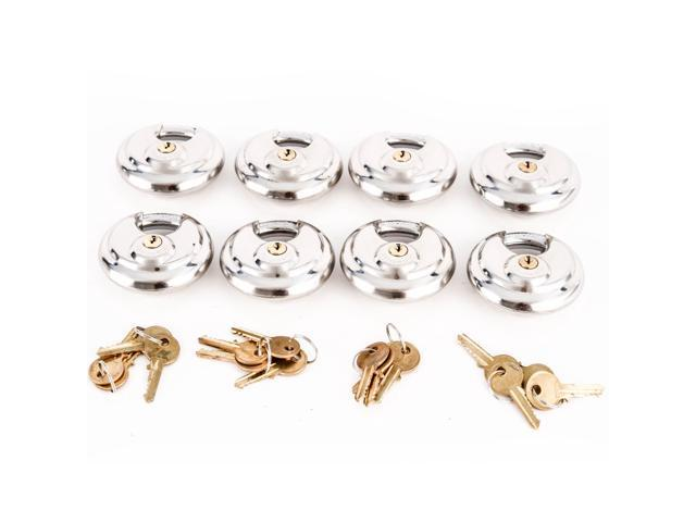 Red Hound Auto 10 Armor Disc Padlock Trailer Brass Cylinder Storage Locks Stainless Keyed Same