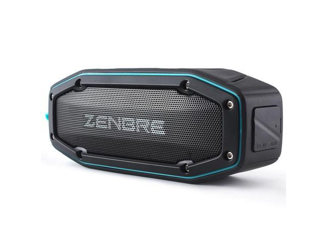 Bluetooth Speakers, ZENBRE D6 Waterproof IPX6 Bluetooth 4.1 Portable Speaker with 18h Play-time, 10W Dual Driver with Bass Resonator, Handsfree Calling, Shockproof (Blue)