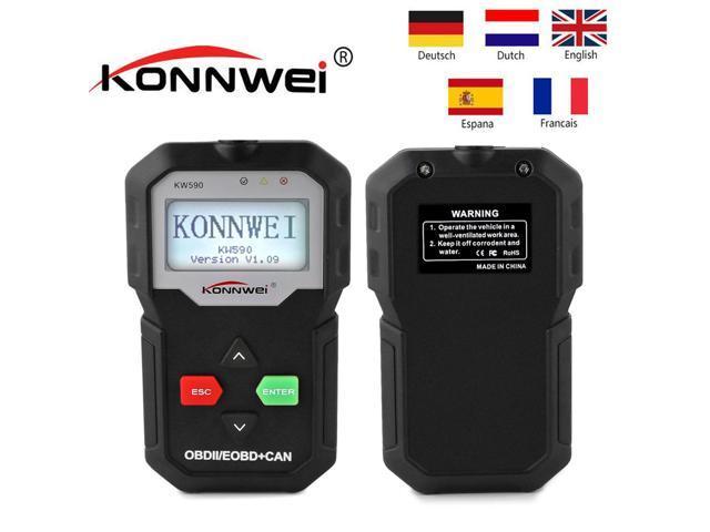 [ Authorized Distributor ] Konnwei KW590 OBD2 Car Diagnostics Tool EOBD KW  590 Auto Diagnostic Scanner Code Reader - Newegg com