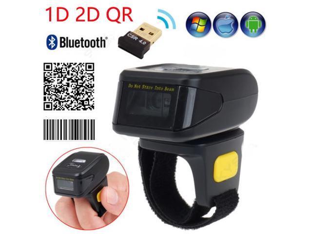 Nexanic Mini Wireless 1D 2D QR Barcode Scanner Wearable Bluetooth 2D Bar  Code Reader Ring Barcode Scanner - Newegg com