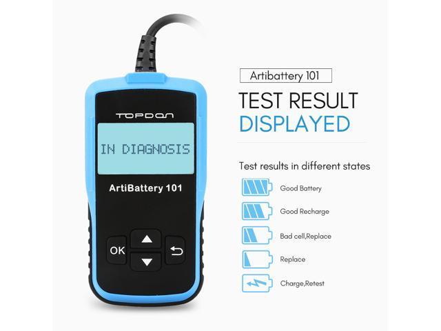 TOPDON AB101 12V ArtiBattery 101 Car Battery Tester Car Digital Battery  Analyzer Cranking Test Charging Test - Newegg com