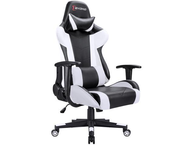 Super Devoko Ergonomic Gaming Chair Racing Style Adjustable Height High Back Pc Computer Chair With Headrest And Lumbar Massage Support Executive Office Cjindustries Chair Design For Home Cjindustriesco