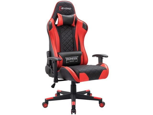 Astounding Devoko Racing Style Gaming Chair Height Adjustable Swivel Pc Computer Chair With Headrest And Lumbar Support Leather Reclining Executive Office Chair Spiritservingveterans Wood Chair Design Ideas Spiritservingveteransorg